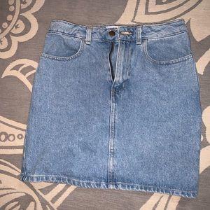 American Apparel High Waisted Jean Skirt
